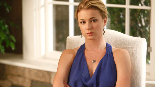 "PHOTO: Emily VanCamp is shown in a scene from ""Revenge""."