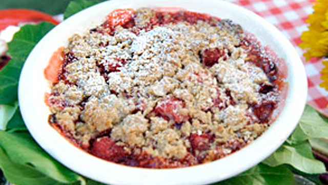 PHOTO: Rhubarb Strawberry Crisp is shown.