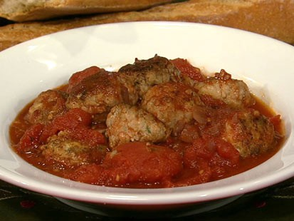 Michael Symon's ricotta meatballs are shown here.
