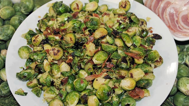 rocco dispirito's brussels sprouts with pancetta | recipe - abc news