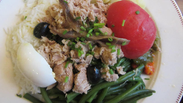 PHOTO: Salade nicoise is shown here.