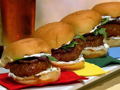 PHOTO:??Michael Symons spicy sausage sliders are shown here.