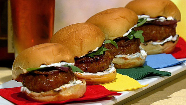 PHOTO: Michael Symon's spicy sausage sliders are shown here.