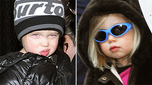 PHOTO Shiloh Jolie Pitt is seen in in this Jan. 13, 2010 file photo, left, and again in March of 2009.