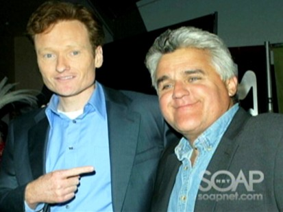 Picture of Conan OBrien and Jay Leno.