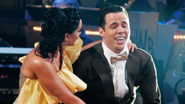 "PHOTO: Steve-O and Lacey Schwimmer compete in ""Dancing With The Stars"", March 23, 2009."