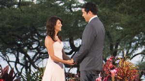PHOTO Jillian Harris and Ed Swiderski are shown in this still image from