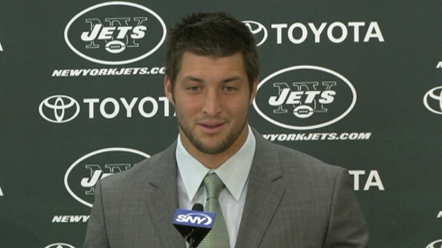 VIDEO: Tim Tebow discusses relationship with starting quarterback Mark Sanchez.