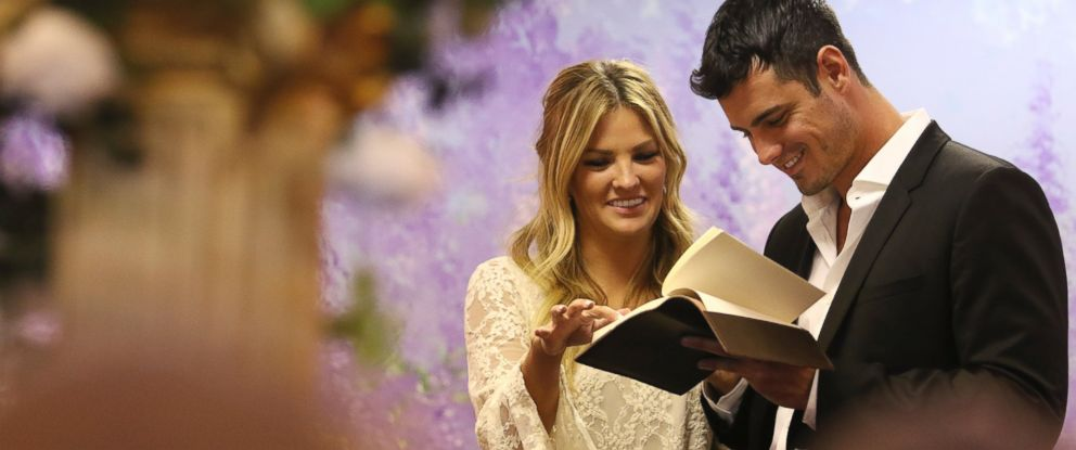 "PHOTO:Becca is thrown off guard when her date card is accompanied by a wedding dress in ""The Bachelor."""