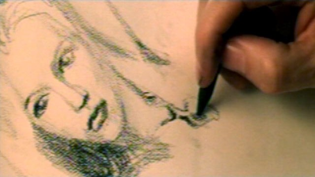 kate winslet in titanic drawing scene full. Portrait sketch of Kate