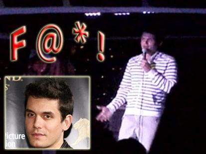 VIDEO: John Mayer curses on cruise ship.