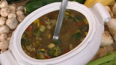 PHOTO: Emeril's garden vegetable soup is shown here.