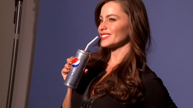 VIDEO: Behind the scenes of Sofia Vergara's diet Pepsi photo shoot.