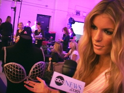 Video: Victorias Secret models prepare to hit the runway.