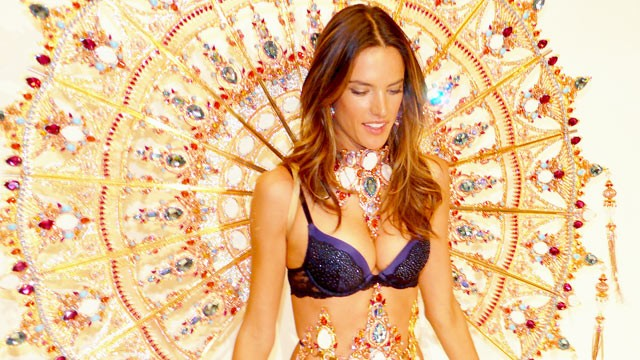 PHOTO: Victoria's Secret model Alessandra Ambrosio wears 30-pound gold angel wings in a fashion show, Nov. 9, 2011.