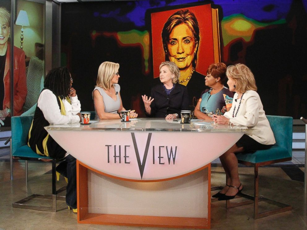 PHOTO: Hillary Clinton appears on The View on May 16, 2014, as Barbara Walters says farewell to live daily television with her final co-host appearance on the daytime program she created for ABC.