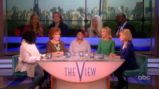 VIDEO: The co-hosts discuss the tension between judges Nicki Minaj and Mariah Carey.
