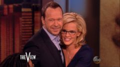 The View co-host shares the details on how Donnie Wahlberg proposed.