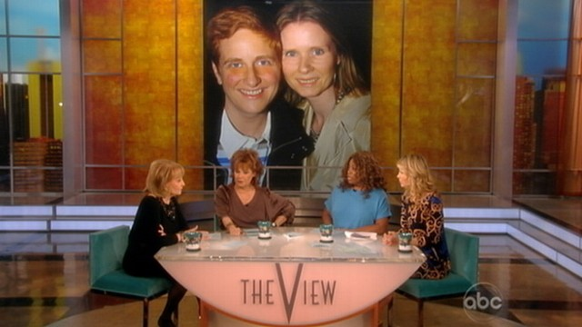 VIDEO: The co-hosts discuss declaration by actress that she chooses to be gay.