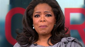 VIDEO: Oprah Winfrey gets choked up while discussing the 2011 end to her show.