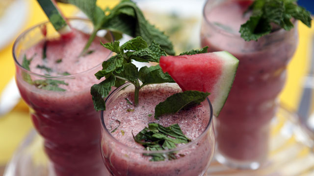 PHOTO: Robert Irvine's grilled watermelon smoothie is shown here.