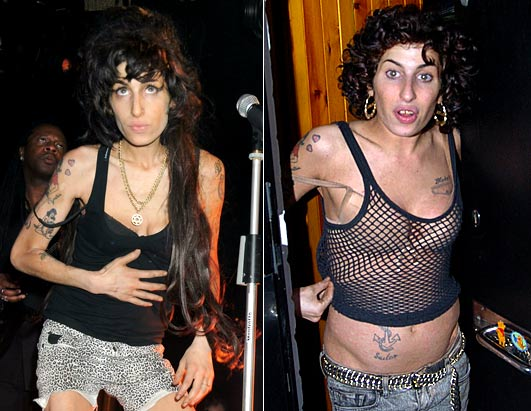 Having chopped off her trademark beehive, Amy Winehouse donned a new 'do Nov