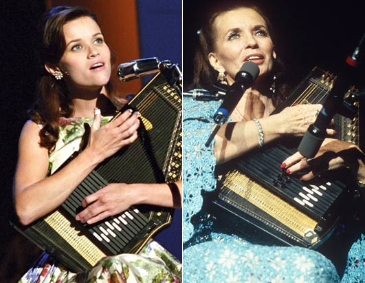 reese witherspoon as june carter. reese witherspoon