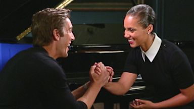 PHOTO: Alicia Keys speaks with ABC News David Muir about her new Empowered campaign to reignite the conversation on HIV-AIDS in America.