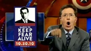 VIDEO: Jon Stewart and Stephen Colbert have fun at the expense of Glenn Becks rallies.