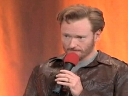VIDEO: Conan OBrien mayve violated his gag order with NBC by impersonating Jay Leno.