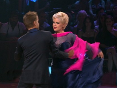 VIDEO: Kelly Osbourne appears on Dancing With the Stars.