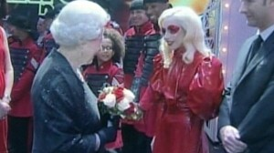 VIDEO: Lady GaGa meets Queen Elizabeth.