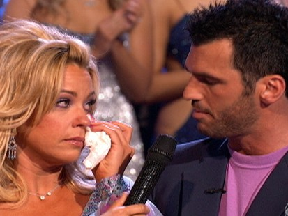 VIDEO: Kate Gosselin is voted of Dancing With the Stars.