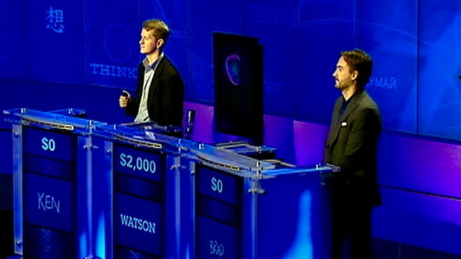 IBM's Watson Computer, Human Tied After Round One of 'Jeopardy ...