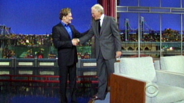 VIDEO: Conan OBrien on David Letterman Show Talks Jay Leno