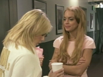 VIDEO: Lindsay Lohan jokes about her recent troubles in a sketch with Chelsea Handler.