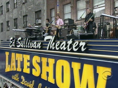 VIDEO: Paul McCartney performs at the Ed Sullivan Theater.