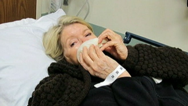 VIDEO: Martha Stewart required nine stitches after being bitten by her bulldog.