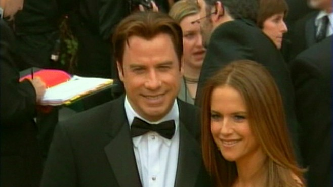 VIDEO: Actors John Travolta and Kelly Preston announce that theyre expecting a baby.