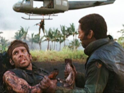 "Picture of Ben Stiller and Robert Downey Jr. in ""Tropic Thunder."""