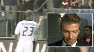 Video: David Beckham confronts fan after being shouted at.