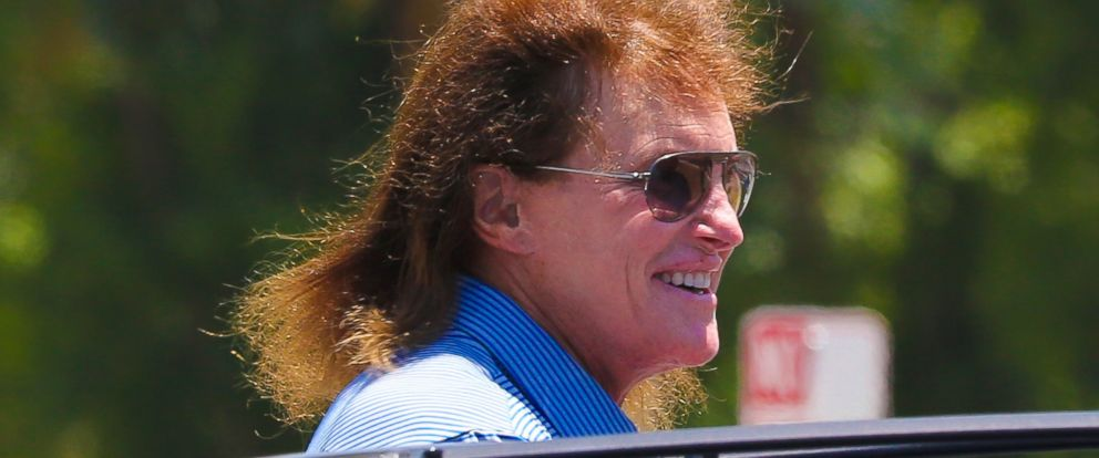 PHOTO: Bruce Jenner looked right out of the 80s rock era as he returns to his car after grabbing a coffee at Starbucks in Calabasas, Calif.