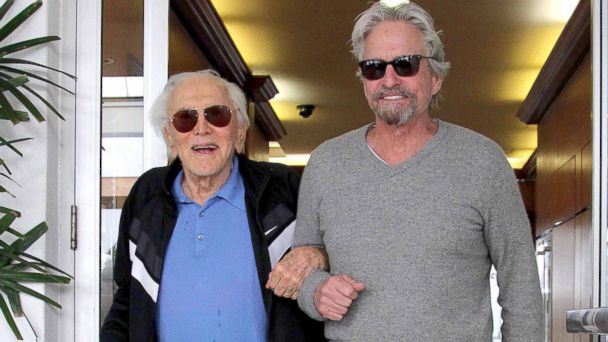 akm kirk michael douglas kb 140226 1 16x9 608 Michael Douglas and Dad Kirk Dine Out