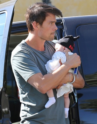Josh Duhamel and Baby Axl Make a Coffee Run