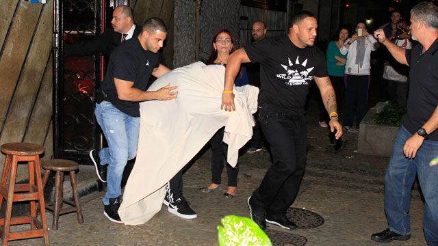 PHOTO:Justin Bieber explores the nightlife that Brazil has to offer and chooses to visit Centauros, a Brazilian brothel, Nov. 1, 2013.