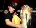PHOTO: Amanda Bynes is taken to the police station after her arrest,  May 23, 2013.