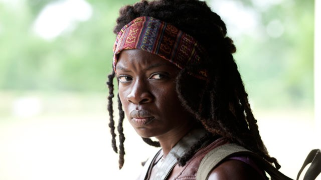 "PHOTO: Danai Gurira plays Michonne in the AMC TV show, ""The Walking Dead."""