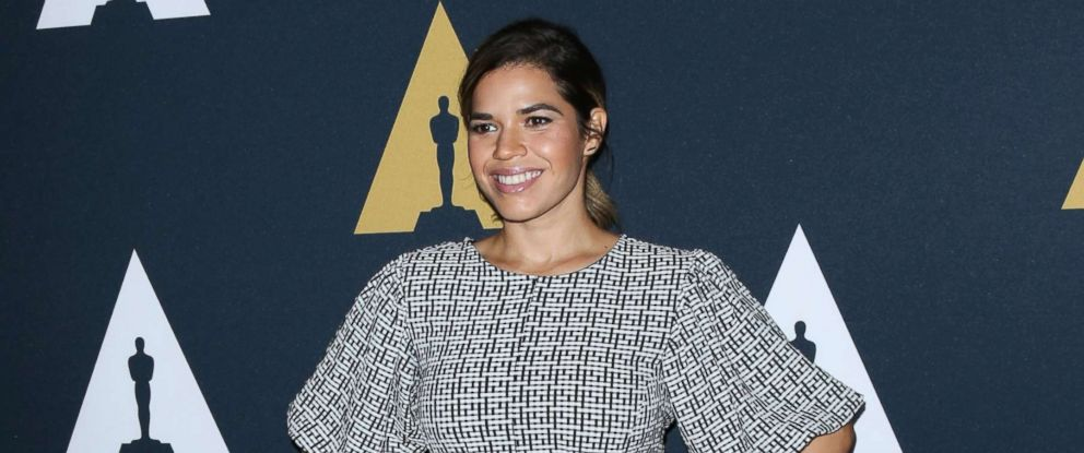 """PHOTO: Actress America Ferrera attends the screening of """"Real Women Have Curves"""" at The Academy Of Motion Picture Arts And Sciences, Oct. 16, 2017 in Los Angeles."""