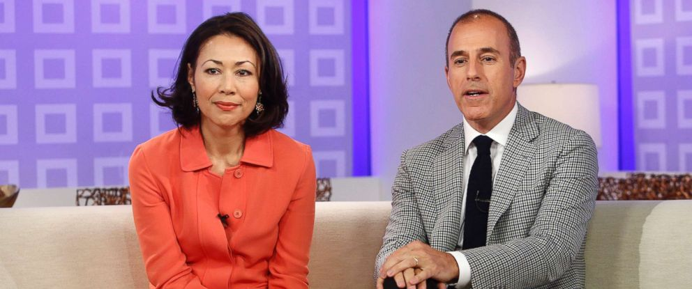 """PHOTO: Ann Curry and Matt Lauer appear on NBC News """"Today"""" show in this June 19, 2012 file photo."""