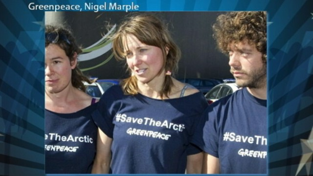 VIDEO: The actress was arrested with five Greenpeace activists in New Zealand.